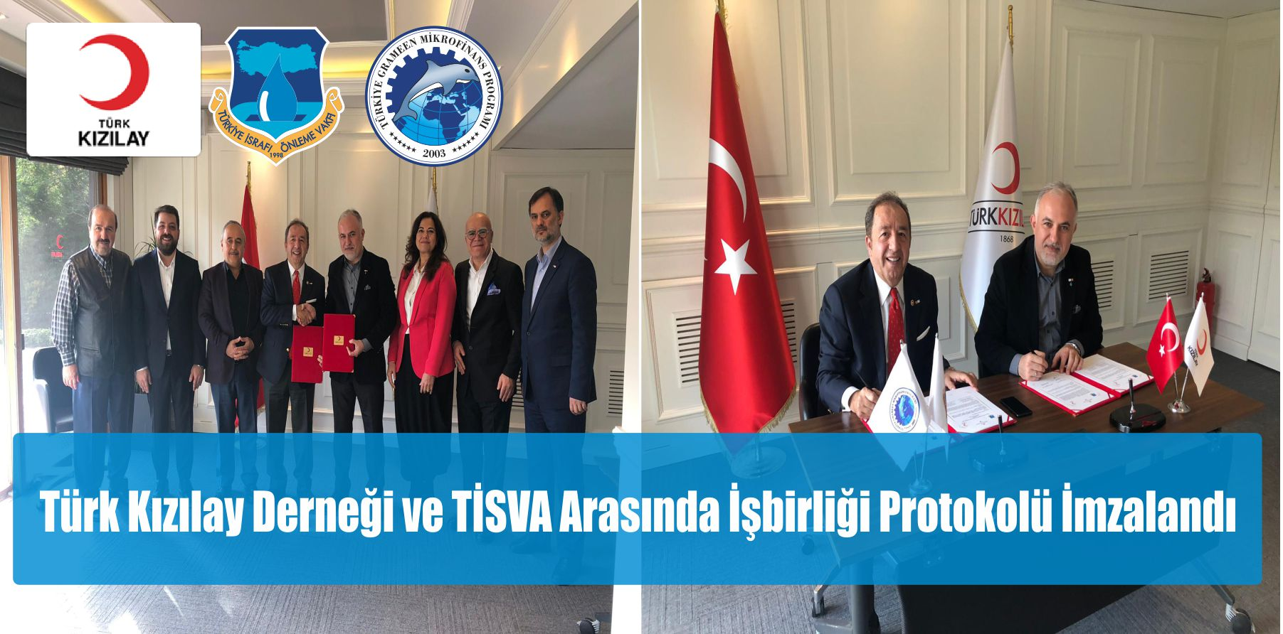 Türk Kızılay Derneği ve TİSVA Arasında İşbirliği Protokolü İmzalandı.