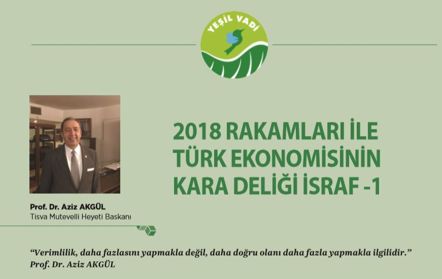 2018 RAKAMLARI İLE TÜRK EKONOMİSİNİN KARA DELİĞİ İSRAF -1